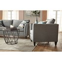 Serta Upholstery by Hughes Furniture 9300 Contemporary Stationary Sofa with Accent Welt