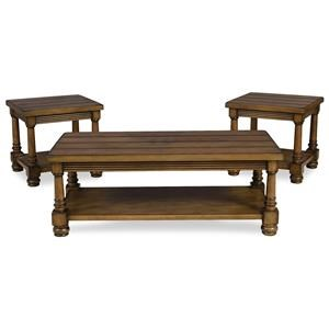 Serta Upholstery Sunderland 3PC Cocktail & End Table Set