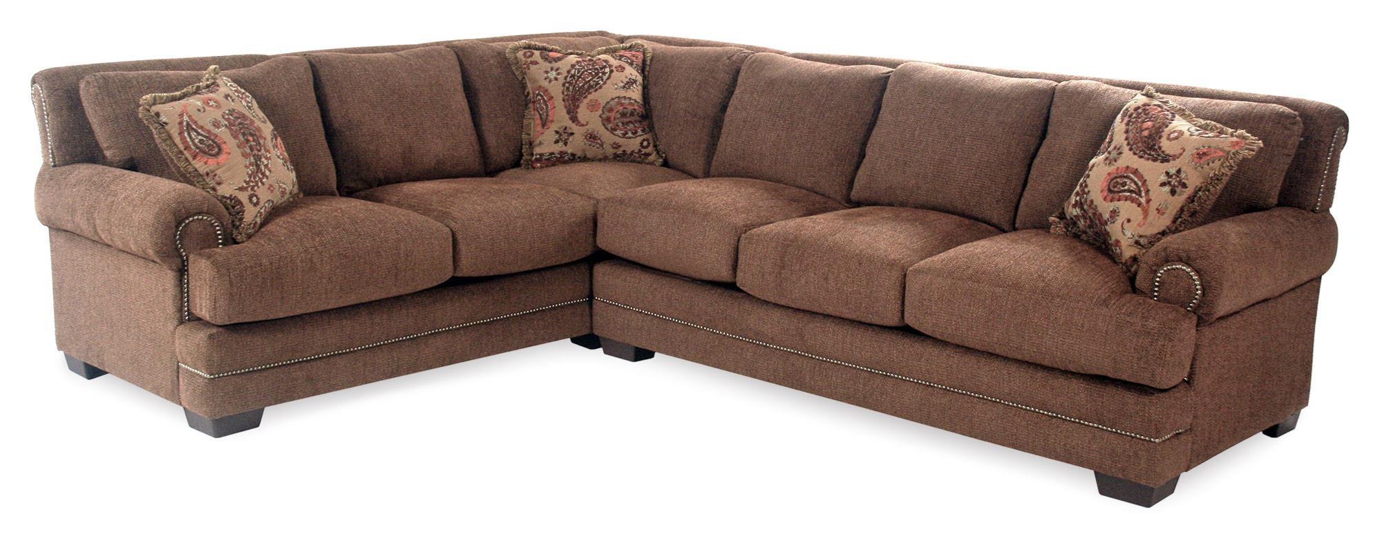 Serta Upholstery Sunderland 2PC Sectional w/ Nailhead Trim - Item Number: 9800-LFSCT+RFS