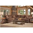 Serta Upholstery Sunderland 5PC Living Room Package - Item Number: 9800-LFSCT+RFS+8000-3PK