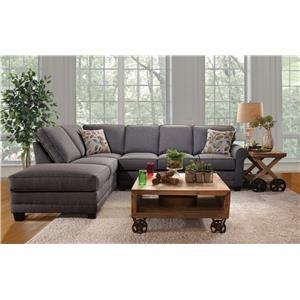 Serta Upholstery Jitterbug 2PC Sectional w/ Chaise