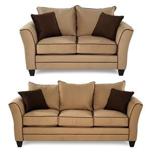 Serta Upholstery Olivia 2-Piece Sofa & Loveseat Package