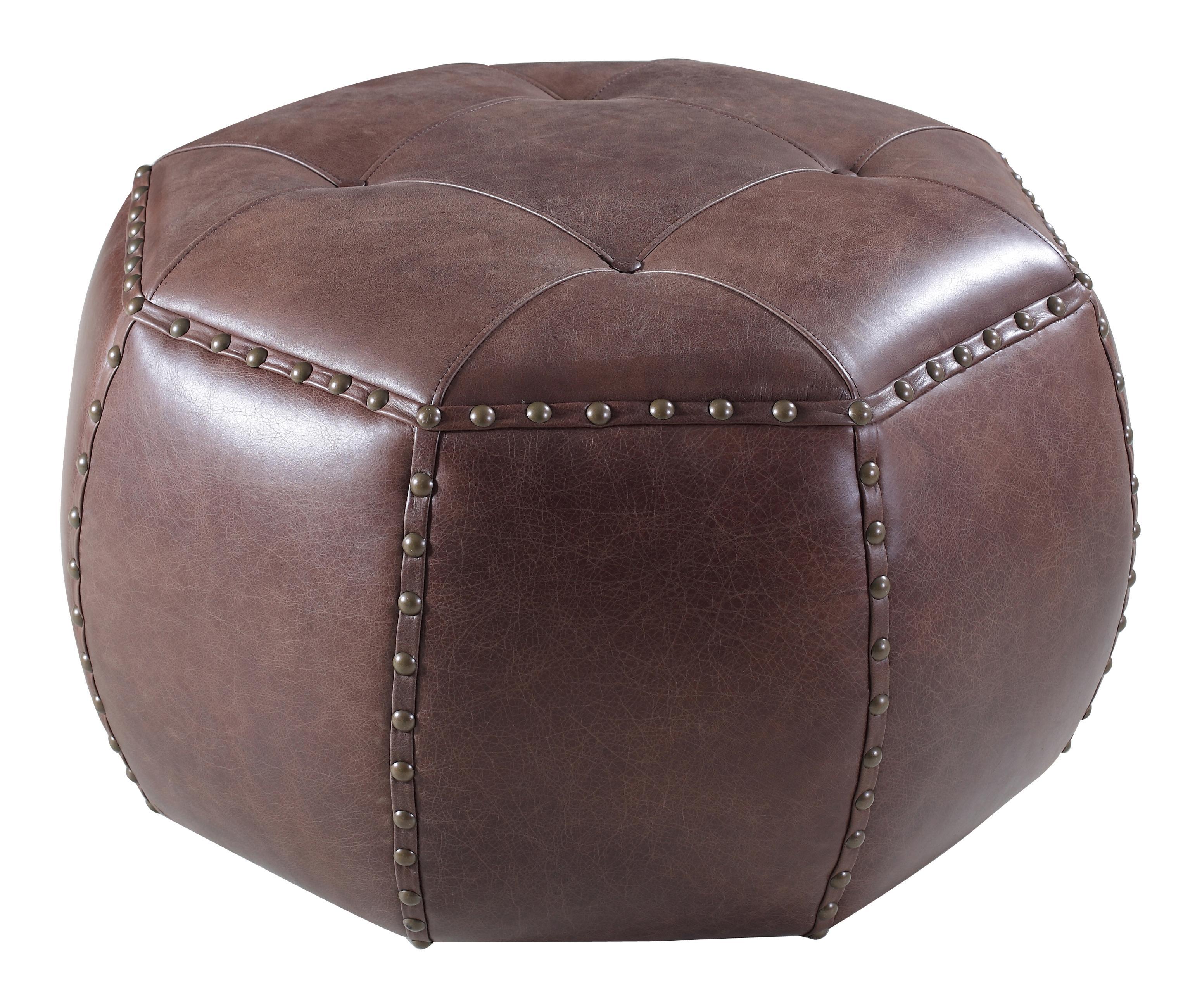 Hooker Furniture Accent Ottomans Octagonal Ottoman - Item Number: SS389-OT-087