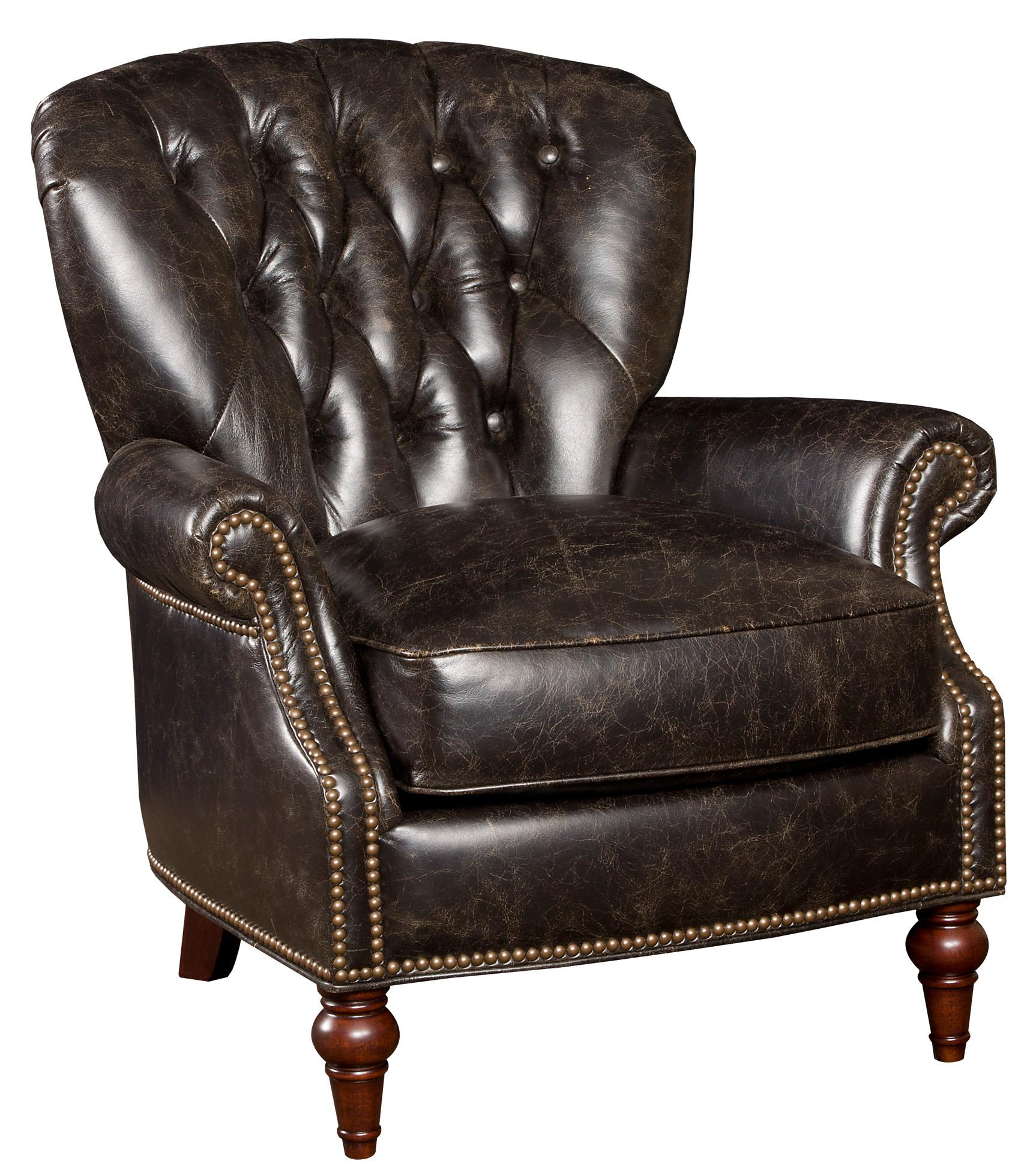 Club Chairs Traditional Leather Nailhead Trim Club Chair With Exposed Wood  Feet By Hooker Furniture