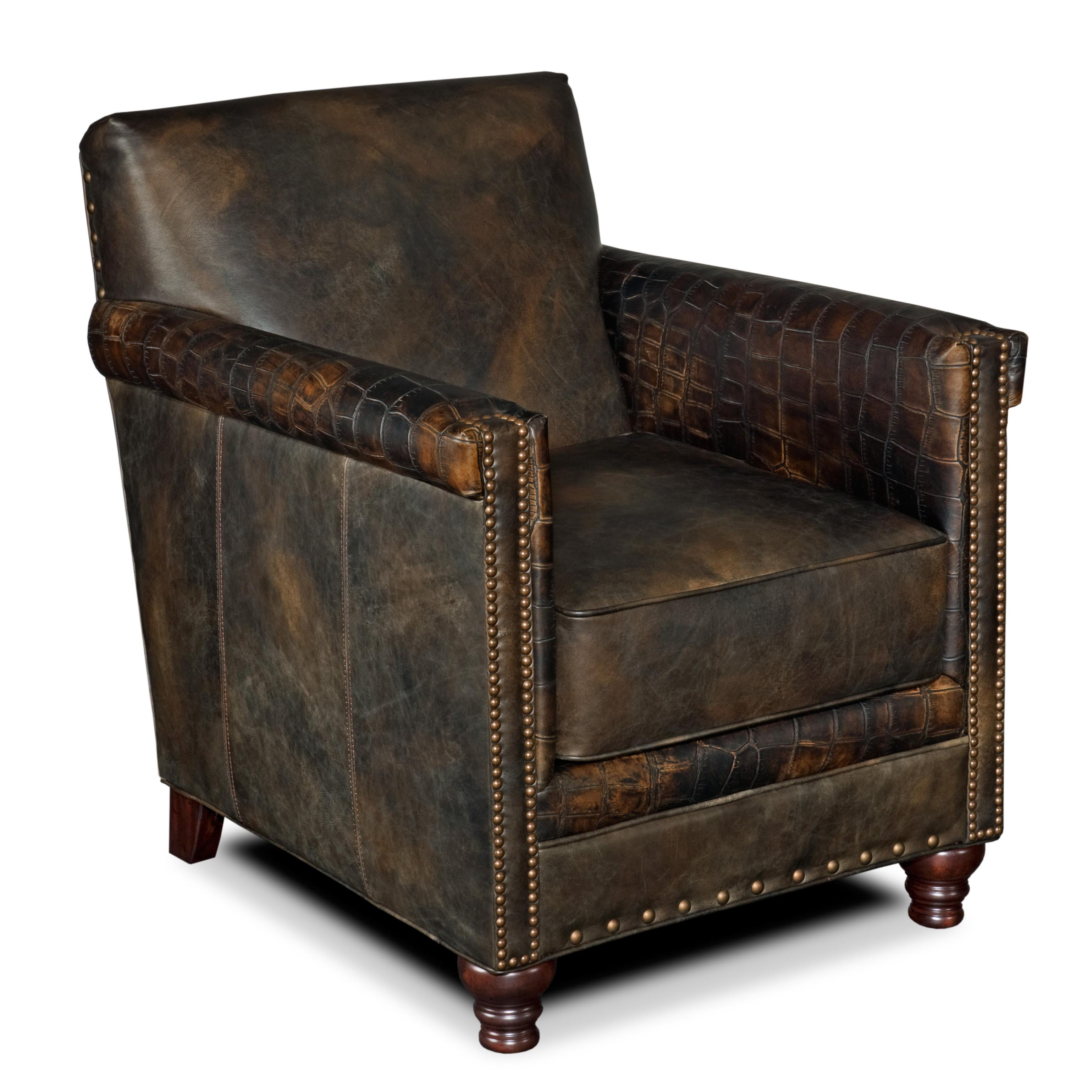 Hooker Furniture Club Chairs Potter Upholstered Club Chair - Item Number CC719-089  sc 1 st  Dunk u0026 Bright Furniture & Hooker Furniture Club Chairs Potter Leather Club Chair with ... islam-shia.org