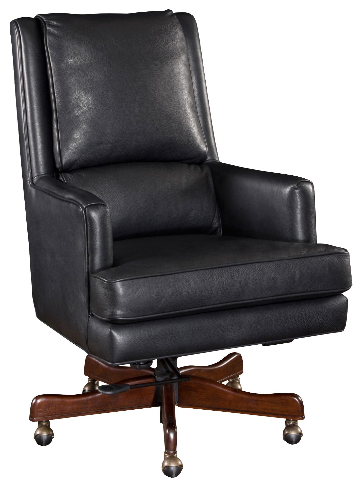 Executive Seating Upholstered Leather Desk Chair with Professional Style by  Hooker Furniture at Dunk & Bright Furniture