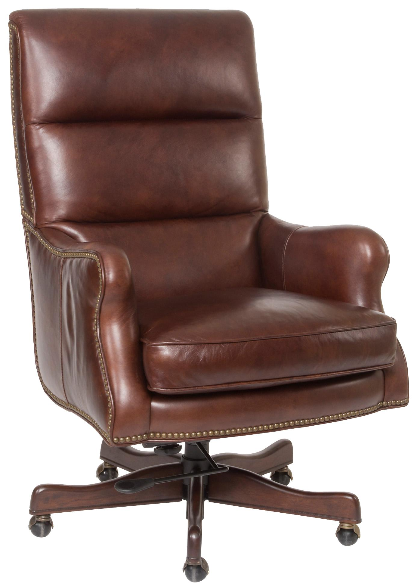Executive Seating Classic Styled Leather Desk Chair with Nail Head Trim by  Hooker Furniture at Dunk & Bright Furniture