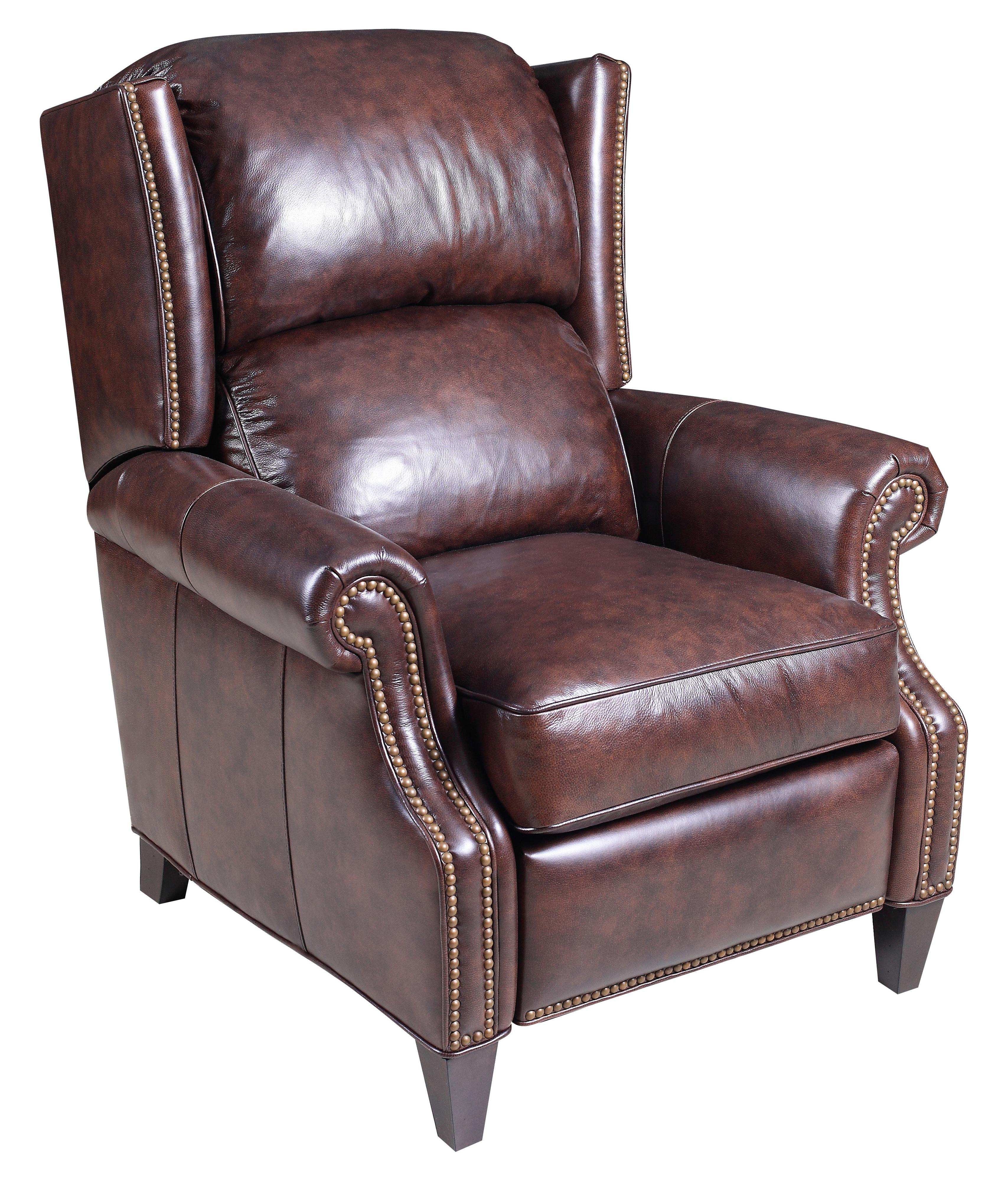 High leg reclining chairs - Reclining Chairs Transitional High Leg Recliner With Wing Back And Nailhead Studs By Hooker Furniture