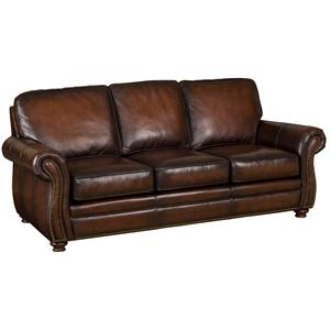 Superieur Hooker Furniture SS186 Brown Leather Sofa
