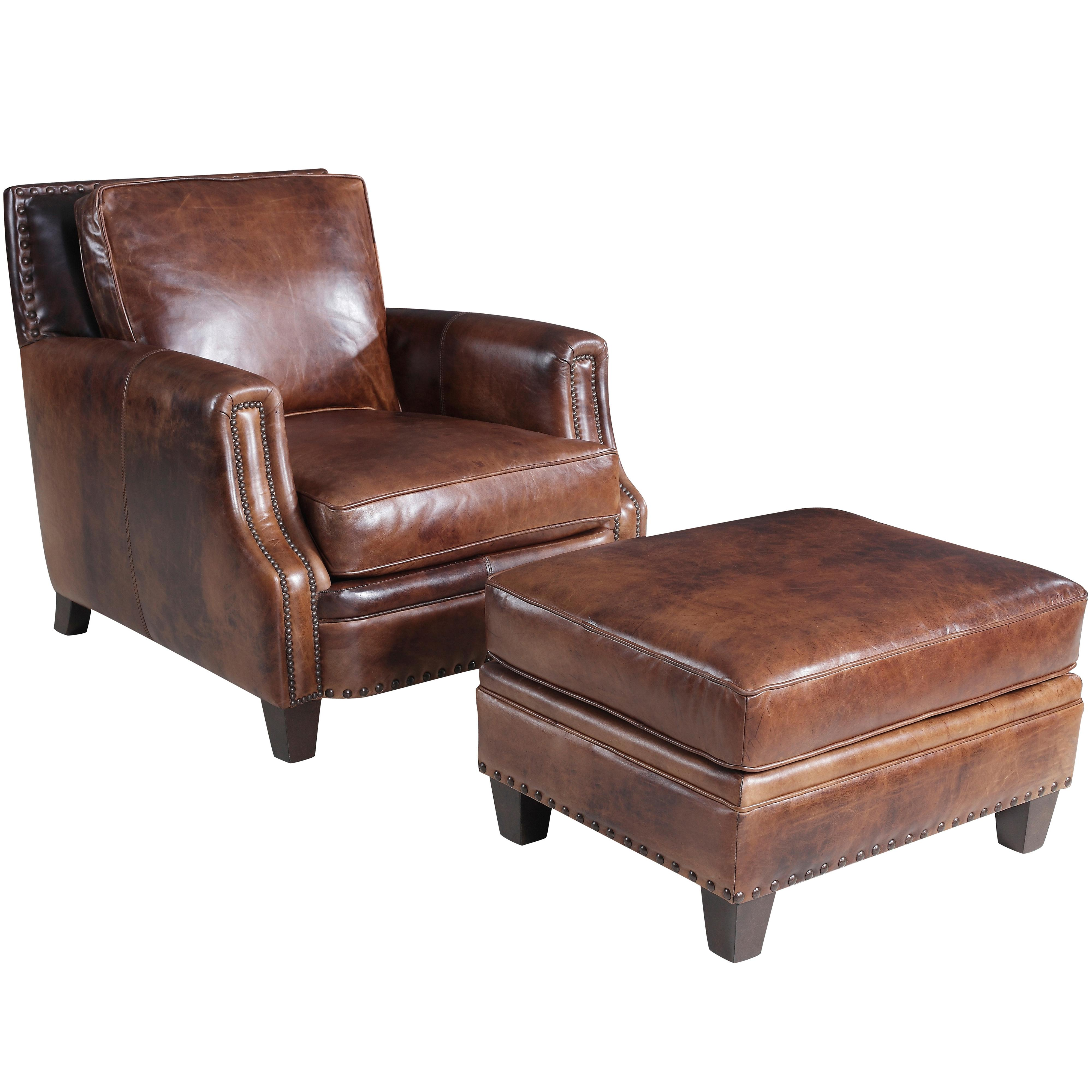 Hooker Furniture SS311 Traditional Chair And Ottoman - Item Number: SS3311-01-085+OT-085