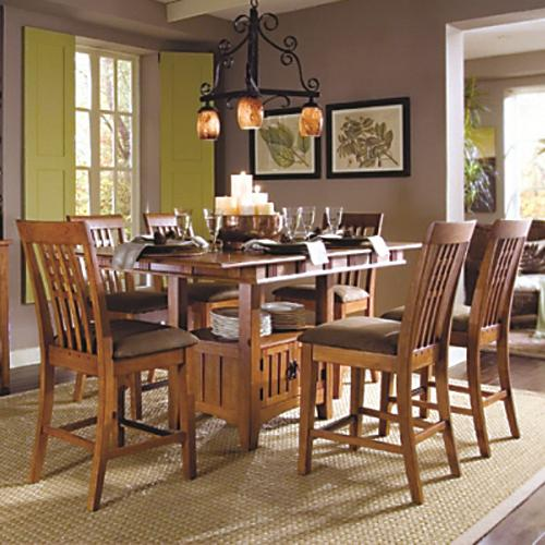SG Santa Fe 7 Pc Counter Height Dining Set   Item Number: 777T+B