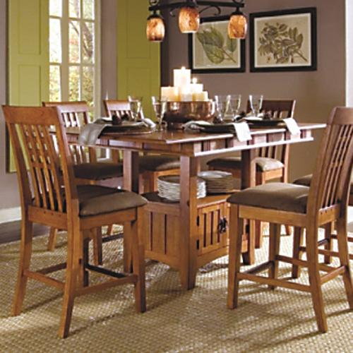 Sg santa fe 777t b mission counter height storage table for John v schultz dining room table