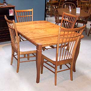 Shermag Portfolio Oval Saber Leg Table With Chairs