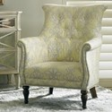 Sherrill Dan Carithers Lounge Chair - Item Number: DC77-Applique Honeydew