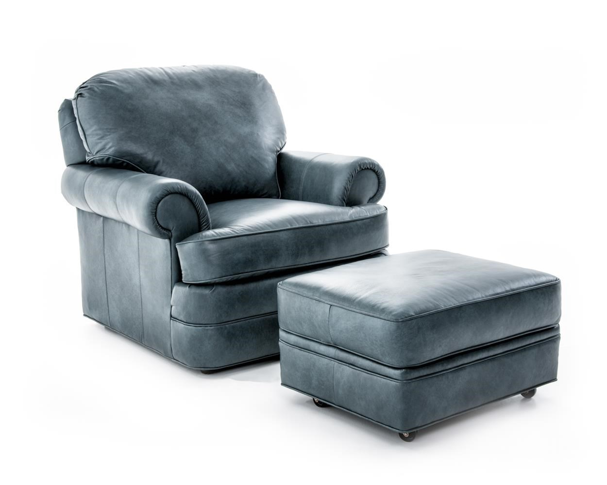 Sherrill Design Your Own Customizable Chair and Ottoman Set - Item Number: 9601-01+9601-00