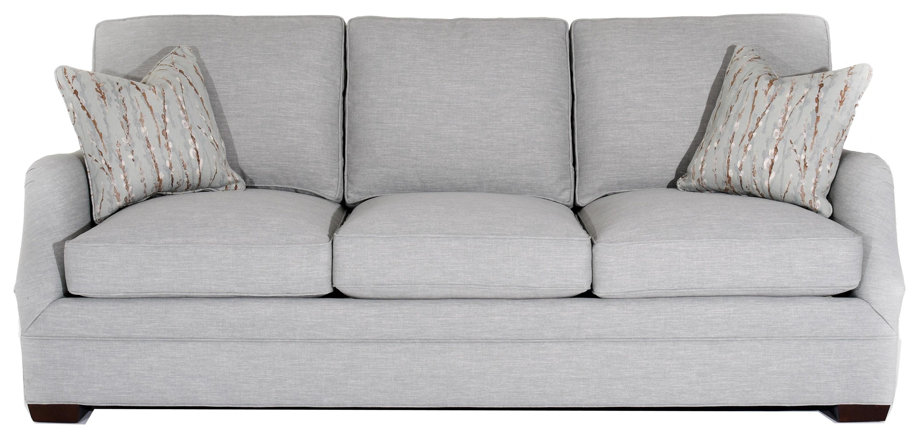 Sherrill Design Your Own Customizable Sofa - Item Number: 9634-EFBL LARGO BLU