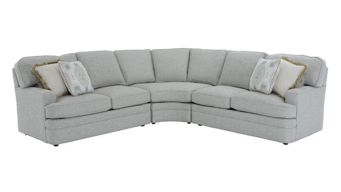 Sherrill Design Your Own 3 Pc Sectional Sofa - Item Number: 96LL-TBU+96RL-TBU+96CC-XBU BURGIN S
