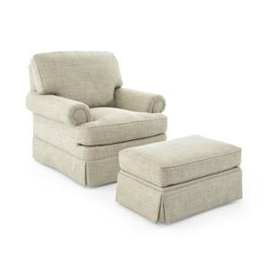 Sherrill Design Your Own Chair and Ottoman Set
