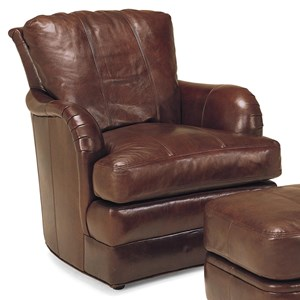 SW1997 Transitional Leather Swivel Chair by Whittemore-Sherrill