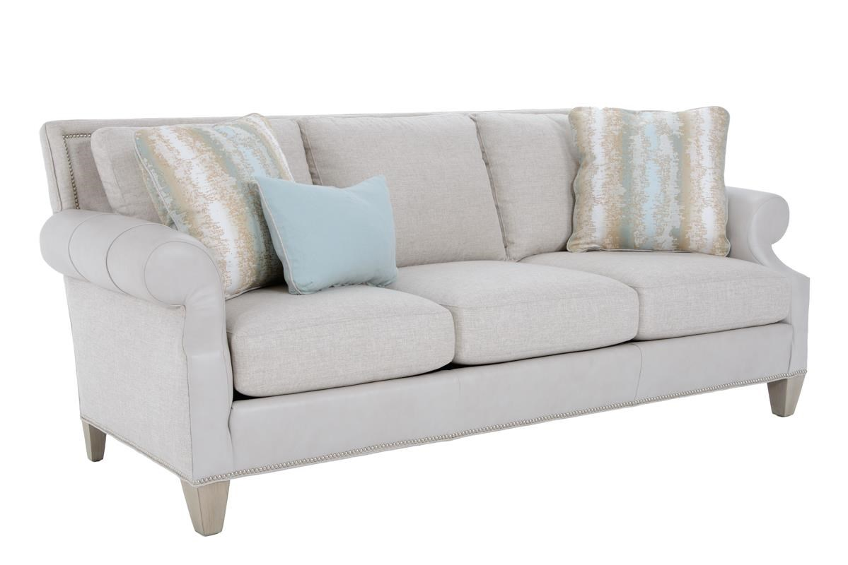 Sherrill Traditional Sofa - Item Number: 2361-03 GROUNDED TAUPE