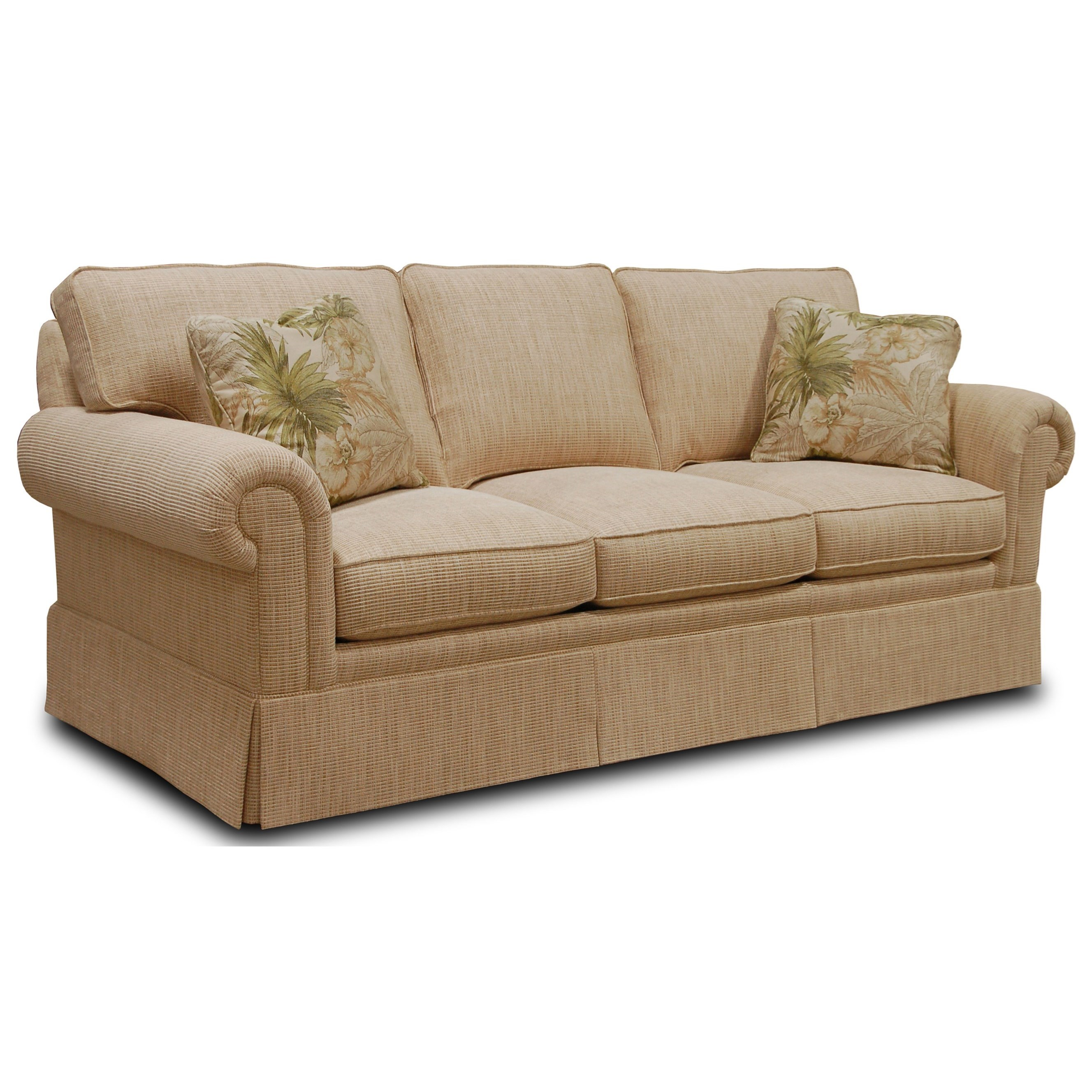 Sherrill Traditional 3066-3 Sofa With Loose Cushion Back
