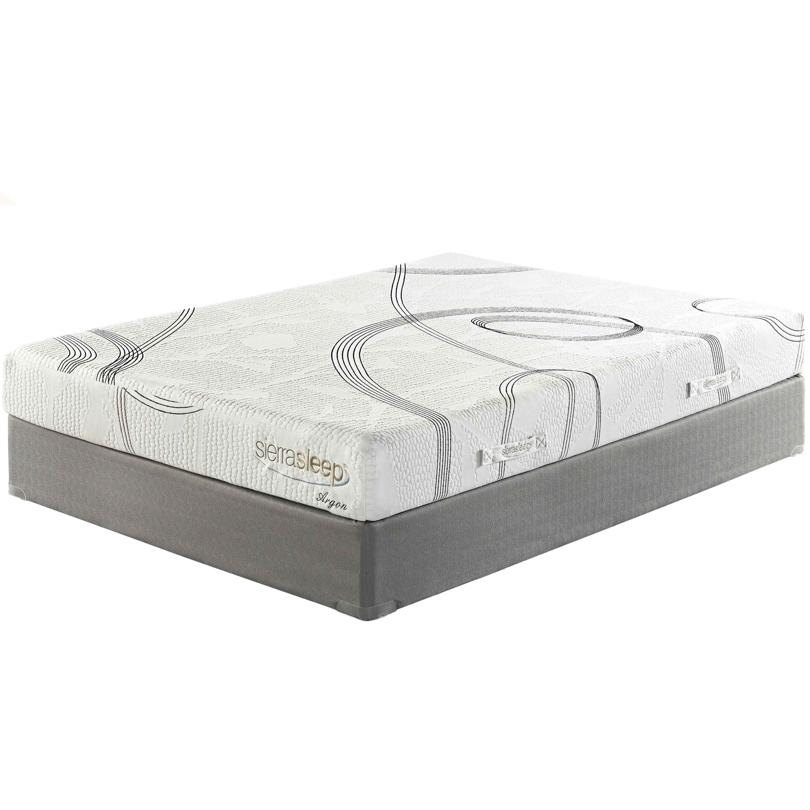 Sierra Sleep 8 Inch Plush Memory Foam Queen Plush Mattress Set - Item Number: M99031+M81X32