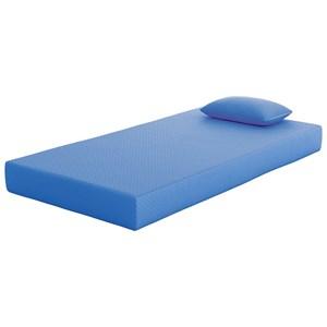 """Full Blue 7"""" Mattress and Matching Pillow"""