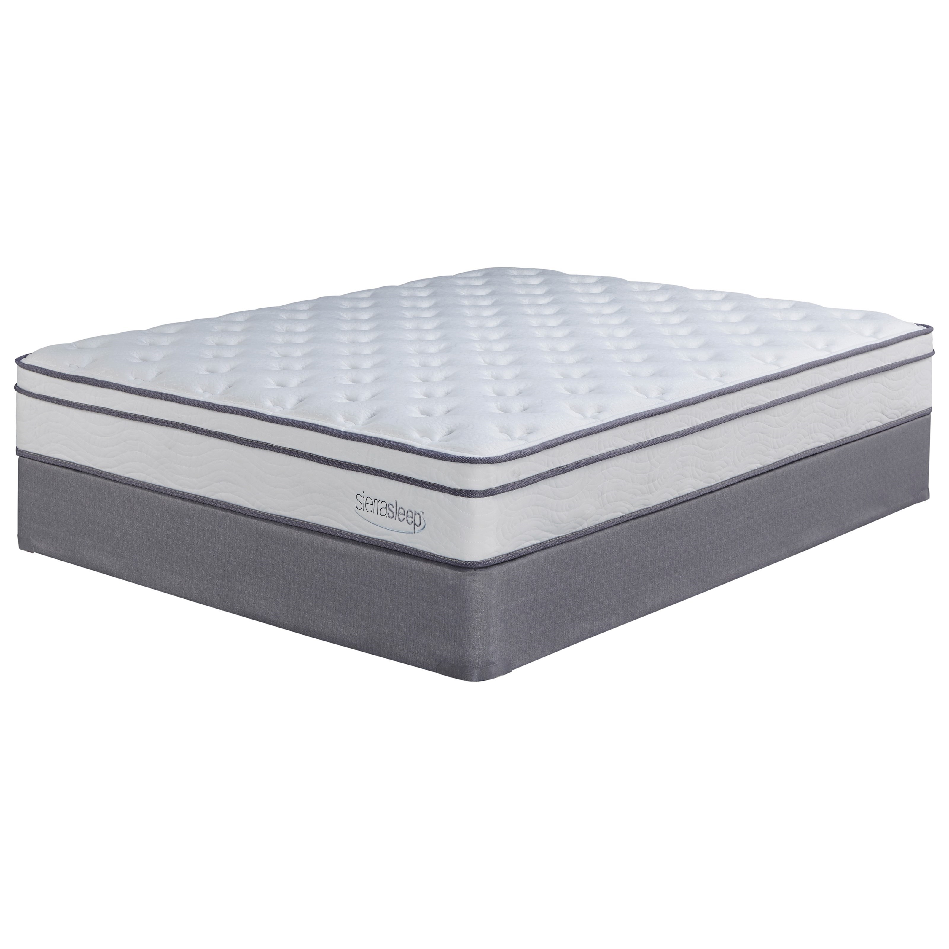 Sierra Sleep Longs Peak Limited King Plush Mattress Set - Item Number: M90741+M81X42