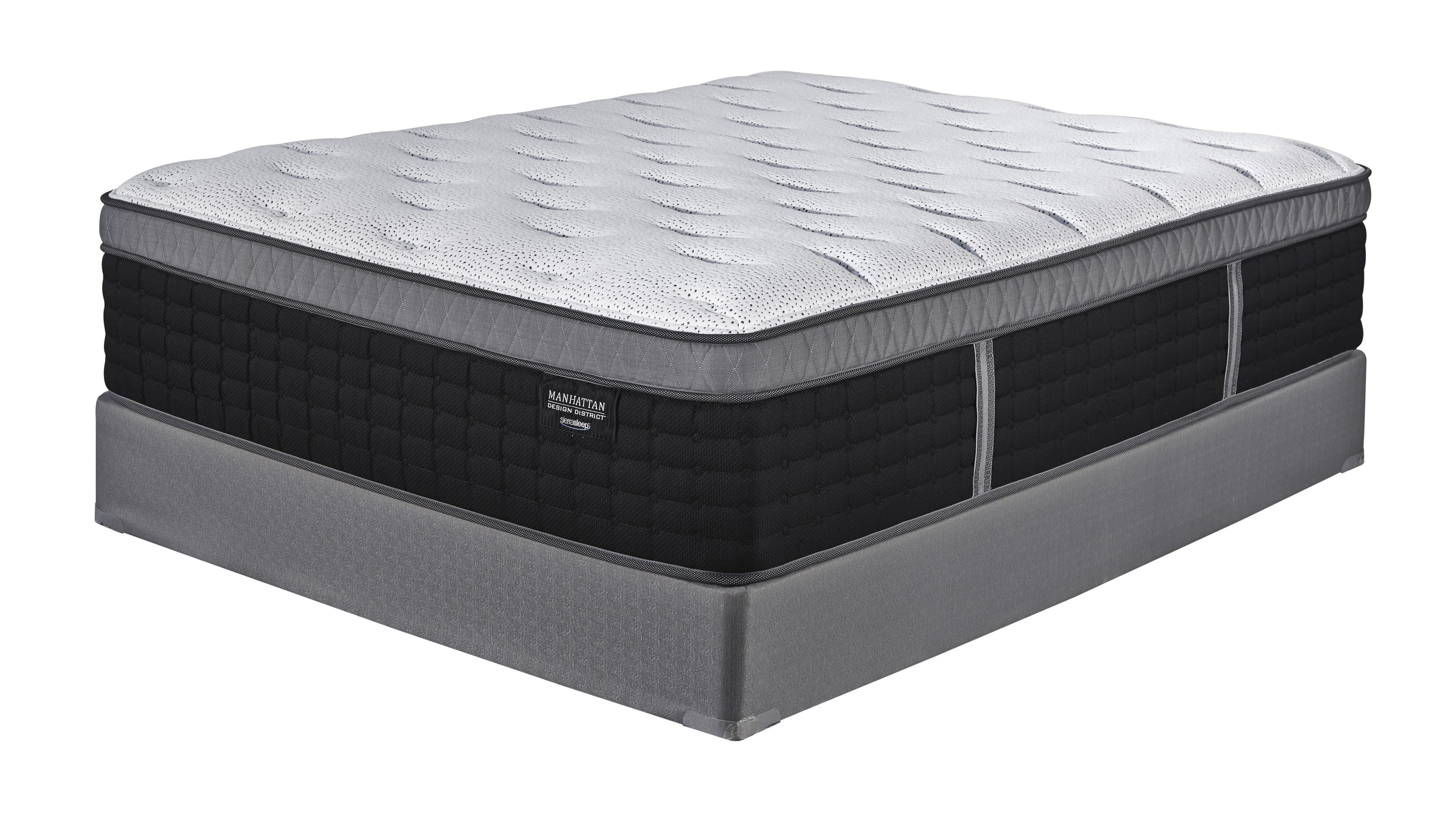 Sierra Sleep Manhattan Design King Plush Hybrid Mattress Set - Item Number: M97741+2xM81X42