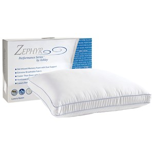 Sierra Sleep Zephyr Radiance Pillow Synthetic Down and Gel Memory Foam Pillow