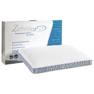 Sierra Sleep Zephyr Revitalize Pillow Gel Infused Memory Foam Pillow