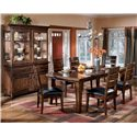 Signature Design by Ashley Larchmont 9Pc Dining Room - Item Number: D442-45x6-01-80-81