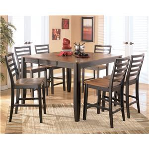 Signature Design by Ashley Alonzo 7 Piece Counter Height Table Set