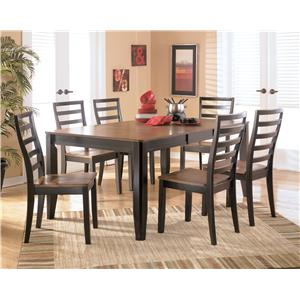 Signature Design by Ashley Furniture Alonzo 7 Piece Rectangular Table Set