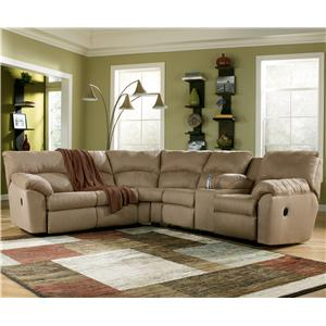 Signature Design by Ashley Furniture Amazon - Mocha 2 Piece Sectional Sofa