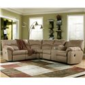 Signature Design by Ashley Amazon - Mocha 2 Piece Sectional Sofa - Item Number: 6170049+48