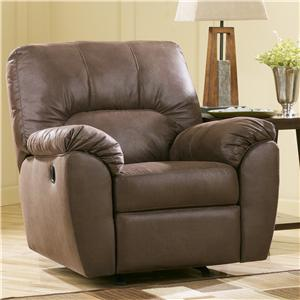 Signature Design by Ashley Amazon - Walnut Rocker Recliner