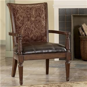 Signature Design by Ashley Barcelona - Antique Showood Accent Chair