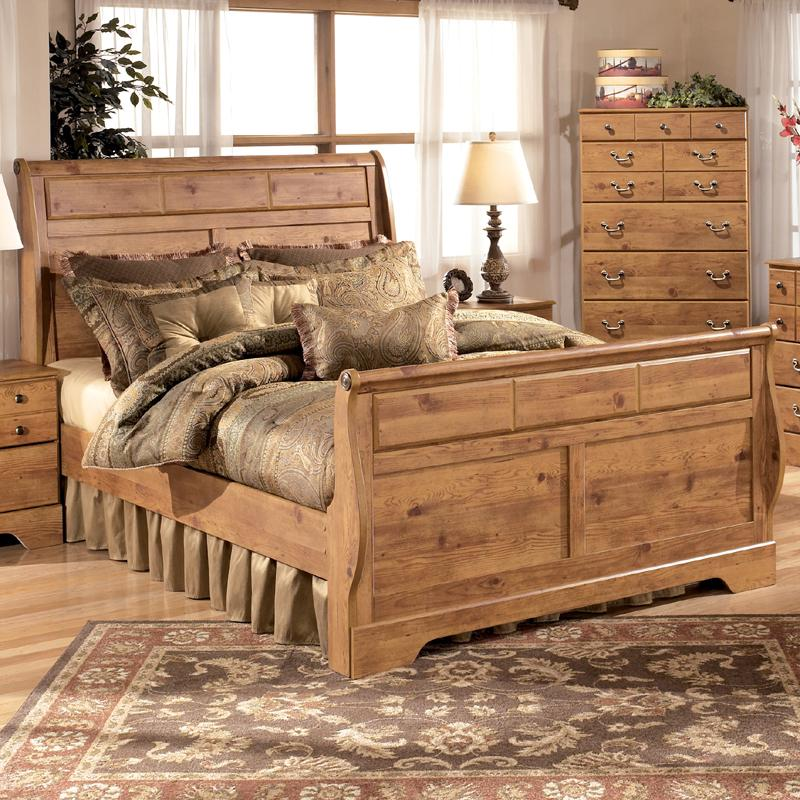 Ashley Signature Design Bittersweet King Sleigh Bed Dunk Amp Bright Furniture Sleigh Bed
