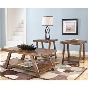 Signature Design by Ashley Bradley 3-in-1 Pack Occasional Tables