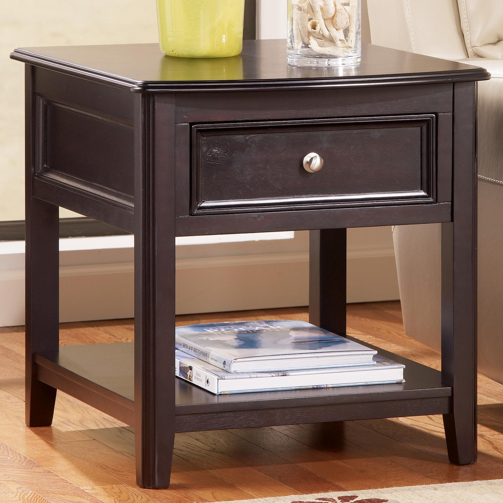Signature Design by Ashley Carlyle Rectangular End Table - Item Number: T771-3