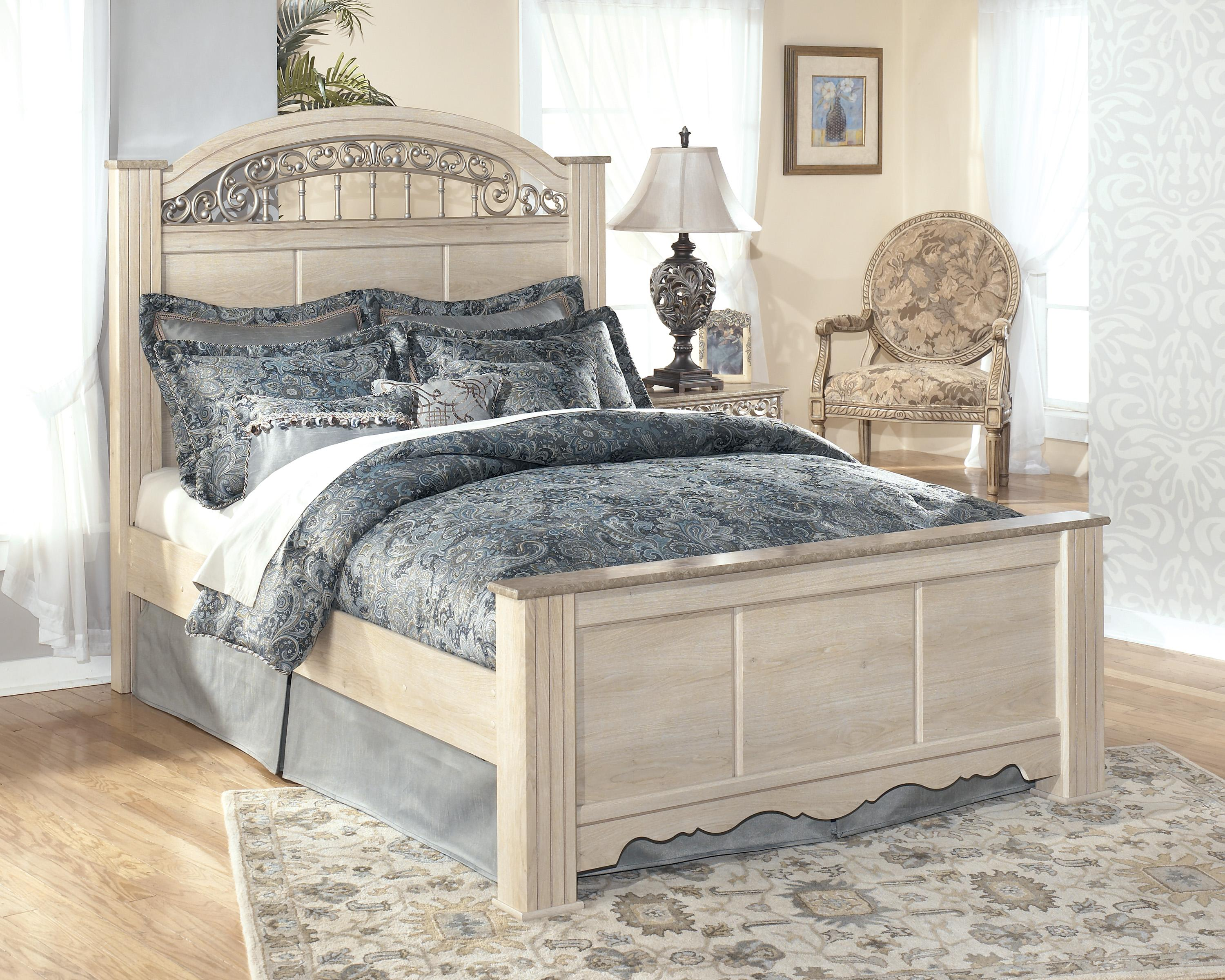 Signature Design by Ashley Catalina King Poster Bed - Item Number: B196-68+66+99