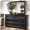 Signature Design by Ashley Cavallino 6 Drawer Dresser - Shown with Mirror