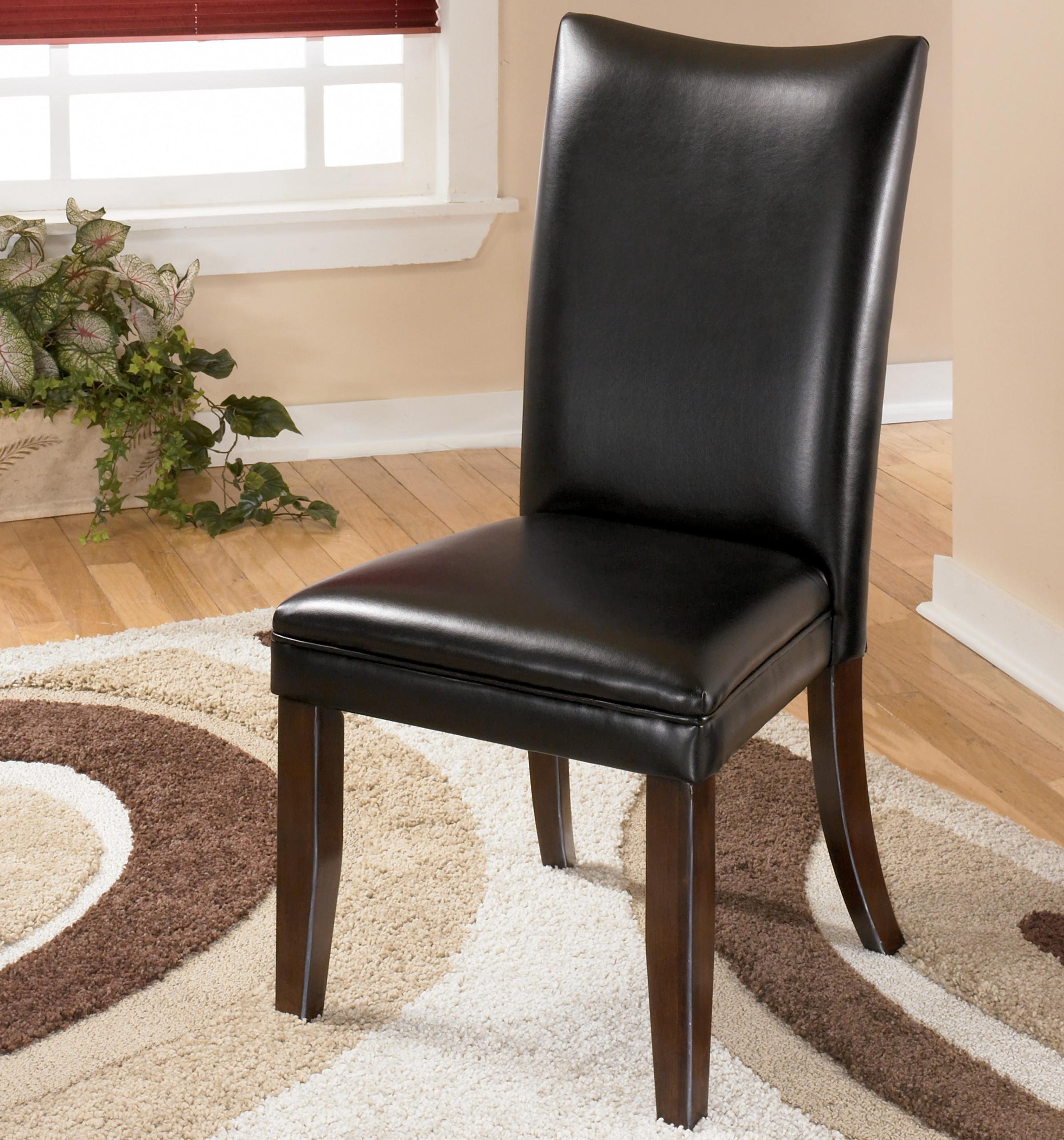 Signature Design by Ashley Charrell Black Side Chair - Item Number: D357-04