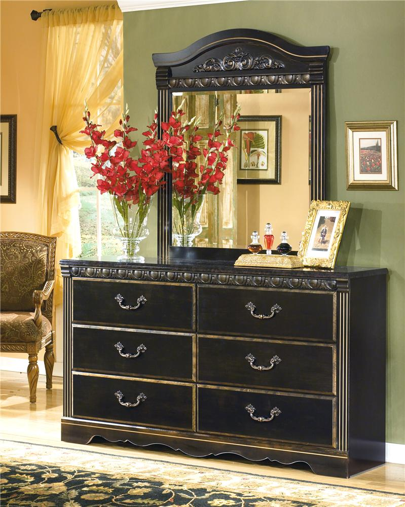 Signature Design by Ashley Coal Creek Dresser & Mirror - Item Number: B175-31+36