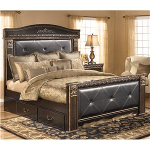 Signature Design by Ashley Coal Creek King Upholstered Mansion Bed with Storage