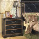 Signature Design by Ashley Coal Creek 3 Drawer Night Stand - Item Number: B175-93