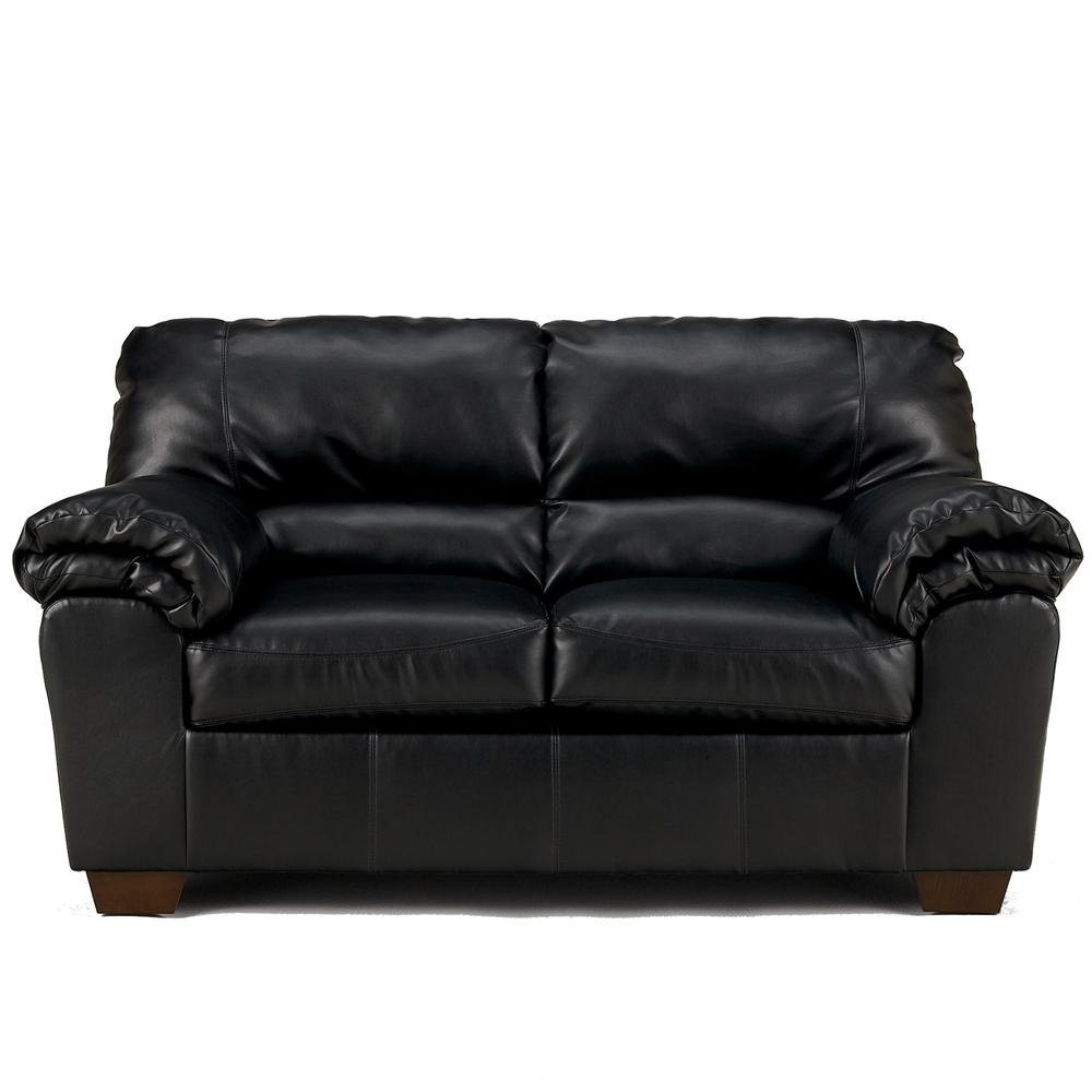 Signature Design by Ashley Commando - Black Upholstered Loveseat - Item Number: 6450035