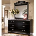 Signature Design by Ashley Constellations Dresser & Mirror Combo - Item Number: B104-31+36