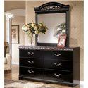 Signature Design by Ashley Constellations 6 Drawer Dresser - Shown with Dresser Mirror